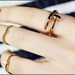Salty Cold Brew Jewelry - Dainty Nail Ring